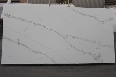 P8115 Artificial Quartz That Looks Like Calacatta Marble With 93% Natural Quartz