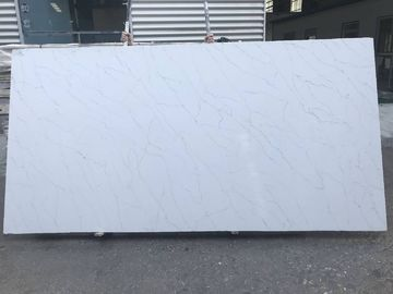 China Light Grey Vein Calacatta Quartz Countertops Acid Resistant Polished Finished supplier