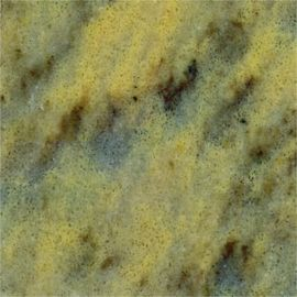 Honed Yellow Solid Surface Marble Look With Black Veining High Hardness
