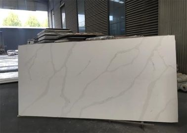 Luxury Natural White Quartz Countertops That Look Like Calacatta Marble 7Mohs Hardness