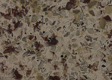China Polished Multi Color Quartz Stone Countertops Kitchen Bathroom Table Tops Worktop supplier
