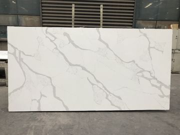 Solid stone kitchen worktops Polished White Slab 2cm Thickness Quartz Slab