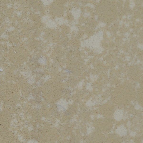 China Light Brown Marble Look Quartz Countertops With White Spots High  Hardness Supplier