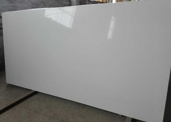 K1000 White Quartz Kitchen Worktops / Marble Quartz Countertops Acid  Resistant