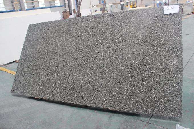 Crystal Shining Grey Quartz Stone Countertops Sparkling Artificial Stone Slabs