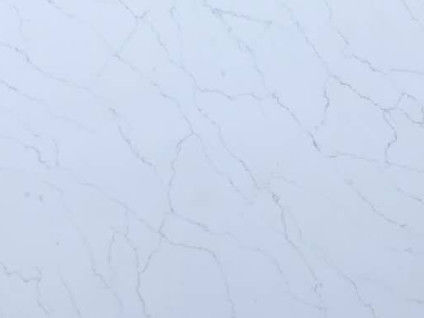 Light Grey Vein Calacatta Quartz Countertops Acid Resistant Polished Finished